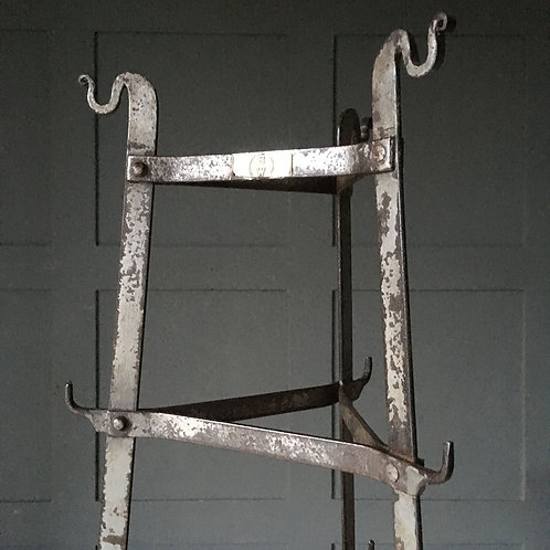 NOW SOLD - Edwardian iron saucepan rack