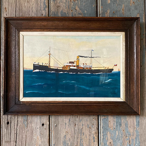 SOLD - Naive maritime ship painting - 'Islander'