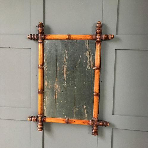 NOW SOLD - Vintage faux bamboo mirror - medium (1)