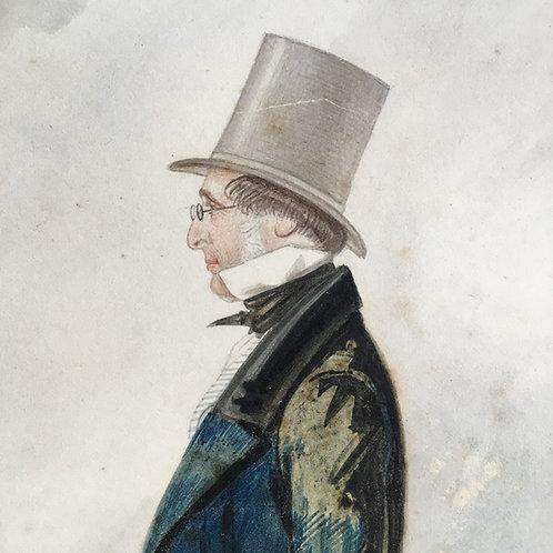 NOW SOLD - Earl of Harrowby watercolour portrait
