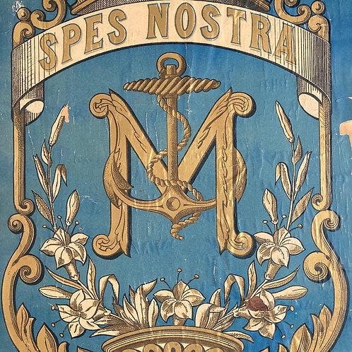 NOW SOLD - 19th C sailor heraldic banner