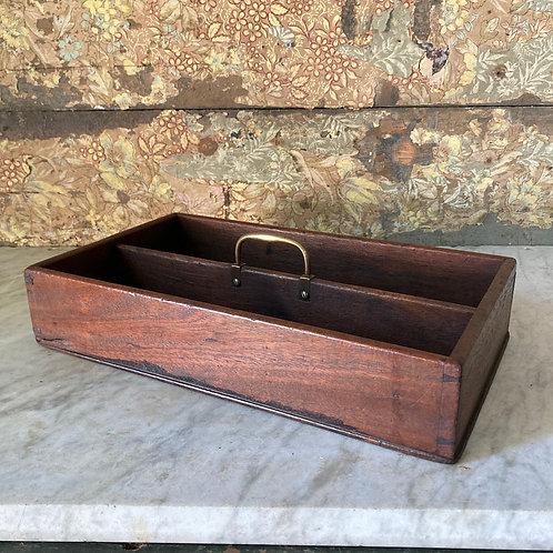 SOLD - 19th C. mahogany cutlery tray