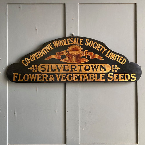 NOW SOLD - Vintage C. W. S. Painted Seeds Sign