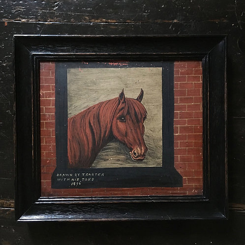 Naive horse oil painting - No.1