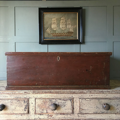 NOW SOLD - 19th C Painted Pine Trunk