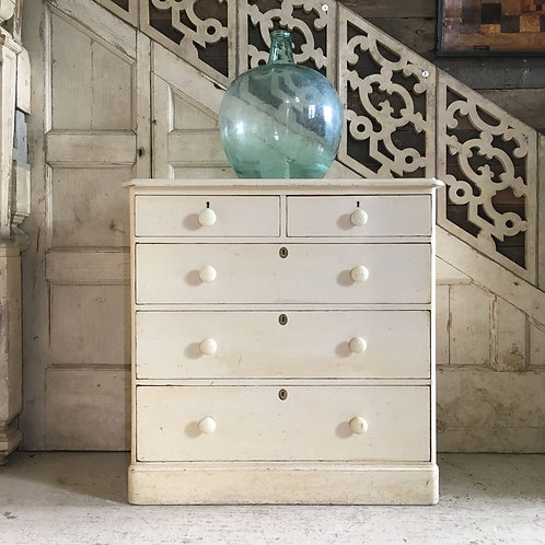 NOW SOLD - Victorian painted pine drawers