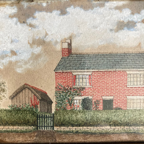 NOW SOLD - Naive folk art painting of a house