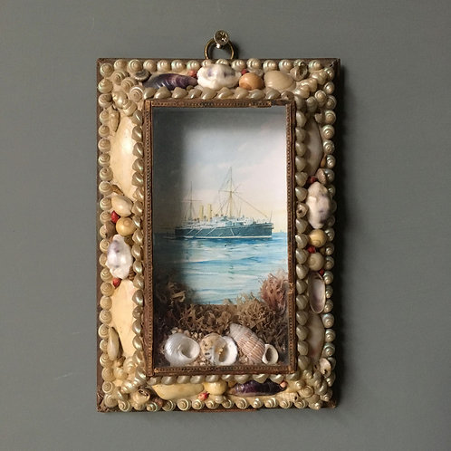NOW SOLD - Victorian Sailor's shell valentine - No.2