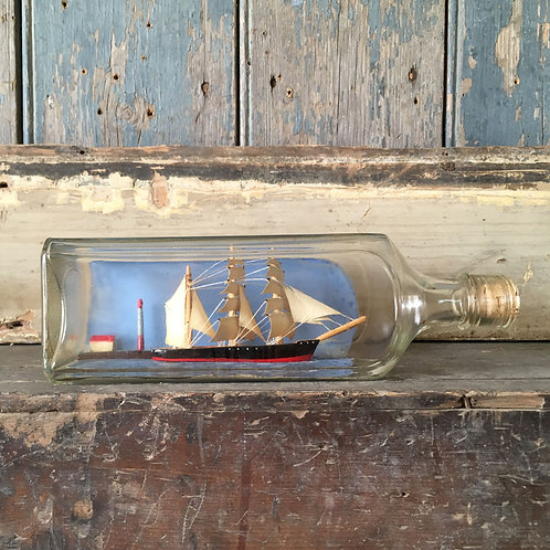 NOW SOLD - Folk art ship in bottle #3