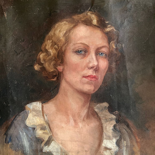 NOW SOLD - Oil painting portrait - 1930s woman