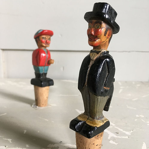 NOW SOLD - Pair of novelty bottle-stoppers