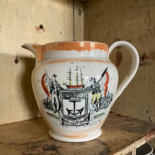 Antique Sunderland pottery jug - 'Mariners Arms'