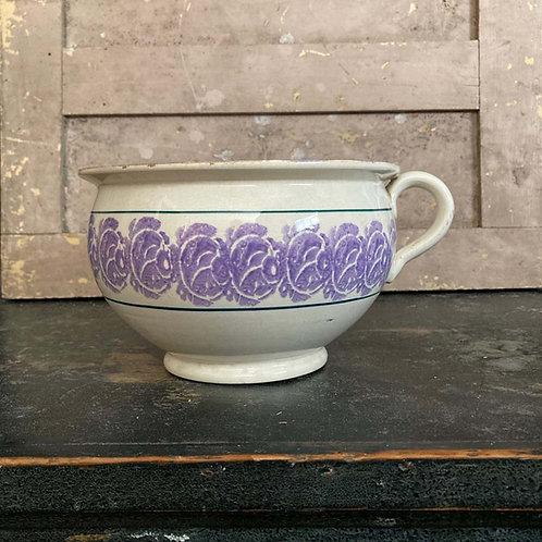 Antique spongeware pottery chamber pot