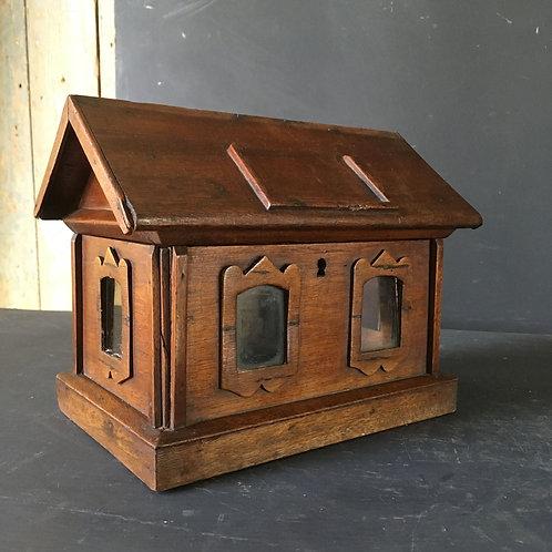 NOW SOLD - Victorian Folk Art Wooden Box