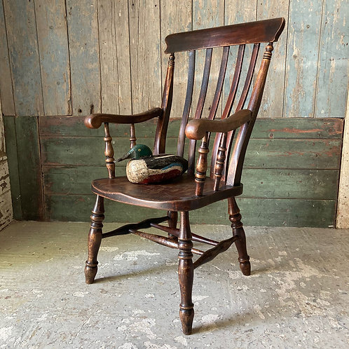 NOW SOLD - 19th C. lath back Windsor armchair
