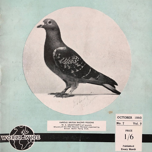 NOW SOLD - Vintage racing pigeon print - No.7 'Grantham's'