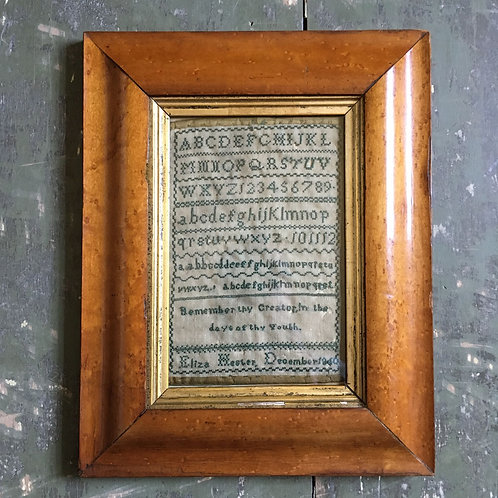 NOW SOLD - Victorian needlework sampler