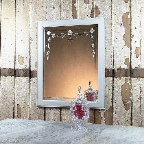 NOW SOLD - Edwardian cut-glass mirror