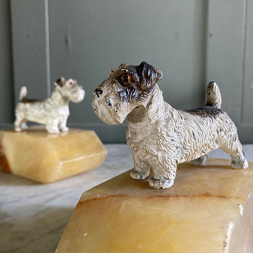 NOW SOLD - Vintage Sealyham terrier bookends