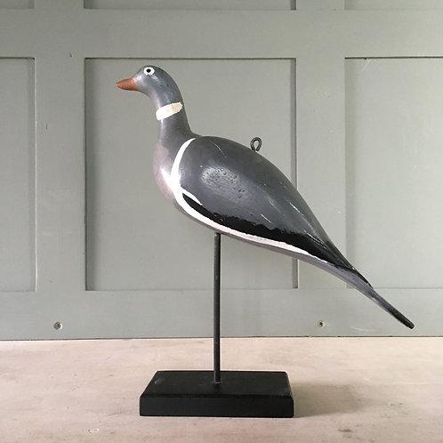 NOW SOLD - Vintage wood pigeon decoy - 'snakehead' #1