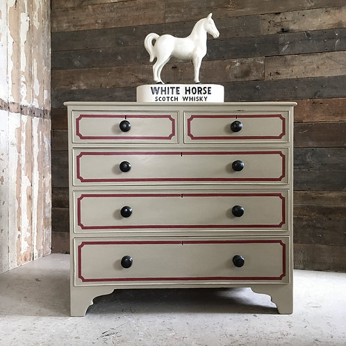 NOW SOLD - 19th century painted pine drawer chest