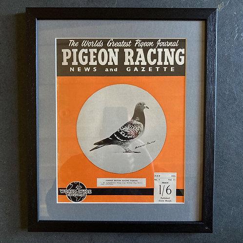 Vintage racing pigeon print - 'J. W.' No.4