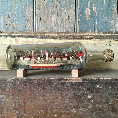 NOW SOLD - Folk art ship in bottle #1