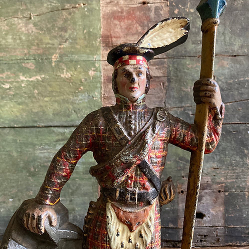 Antique Scottish soldier door stop