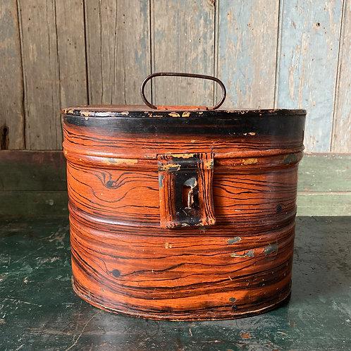 Victorian Toleware hat box
