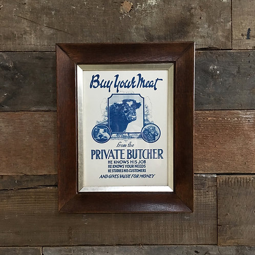 NOW SOLD - Vintage butcher shop print