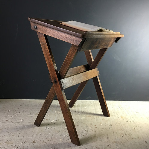 NOW SOLD - Folding oak school desk