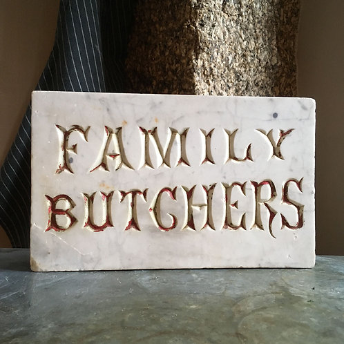 NOW SOLD - Victorian Butcher's shop sign