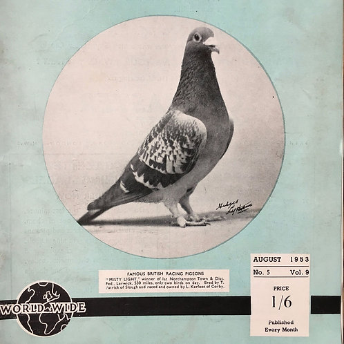NOW SOLD - Vintage racing pigeon print - No.5 'Misty Light'