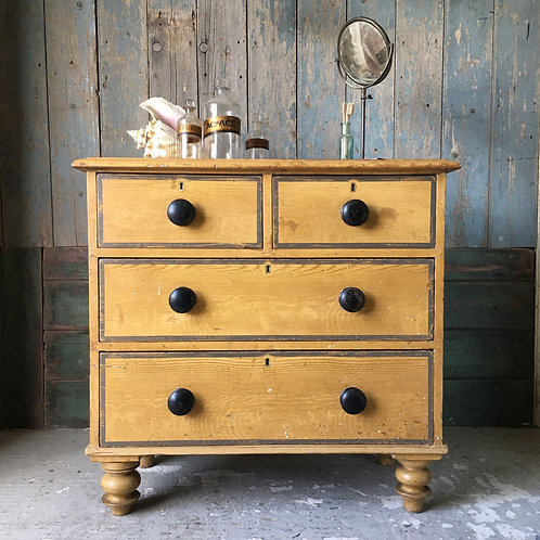 NOW SOLD  - Antique pine chest of drawers