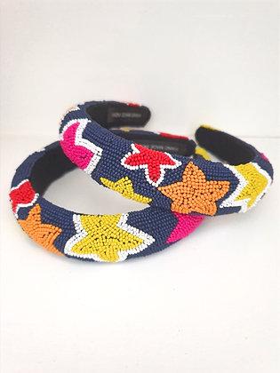Beaded star headband