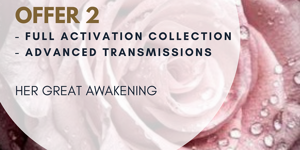 OFFER 2: FULL ACTIVATION COLLECTION + ADVANCED TRANSMISSION - NOW € 88 (instead of €121)