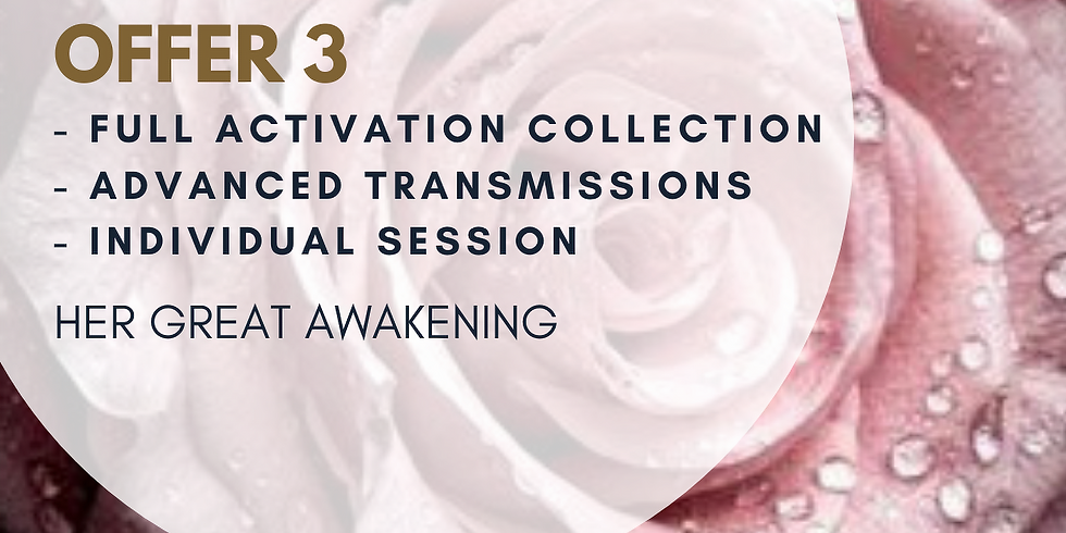OFFER 3: FULL ACTIVATION COLLECTION - NOW € 55  (instead of €88)  (1)