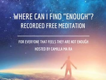 """Meditation """"Where can I find enough?"""""""