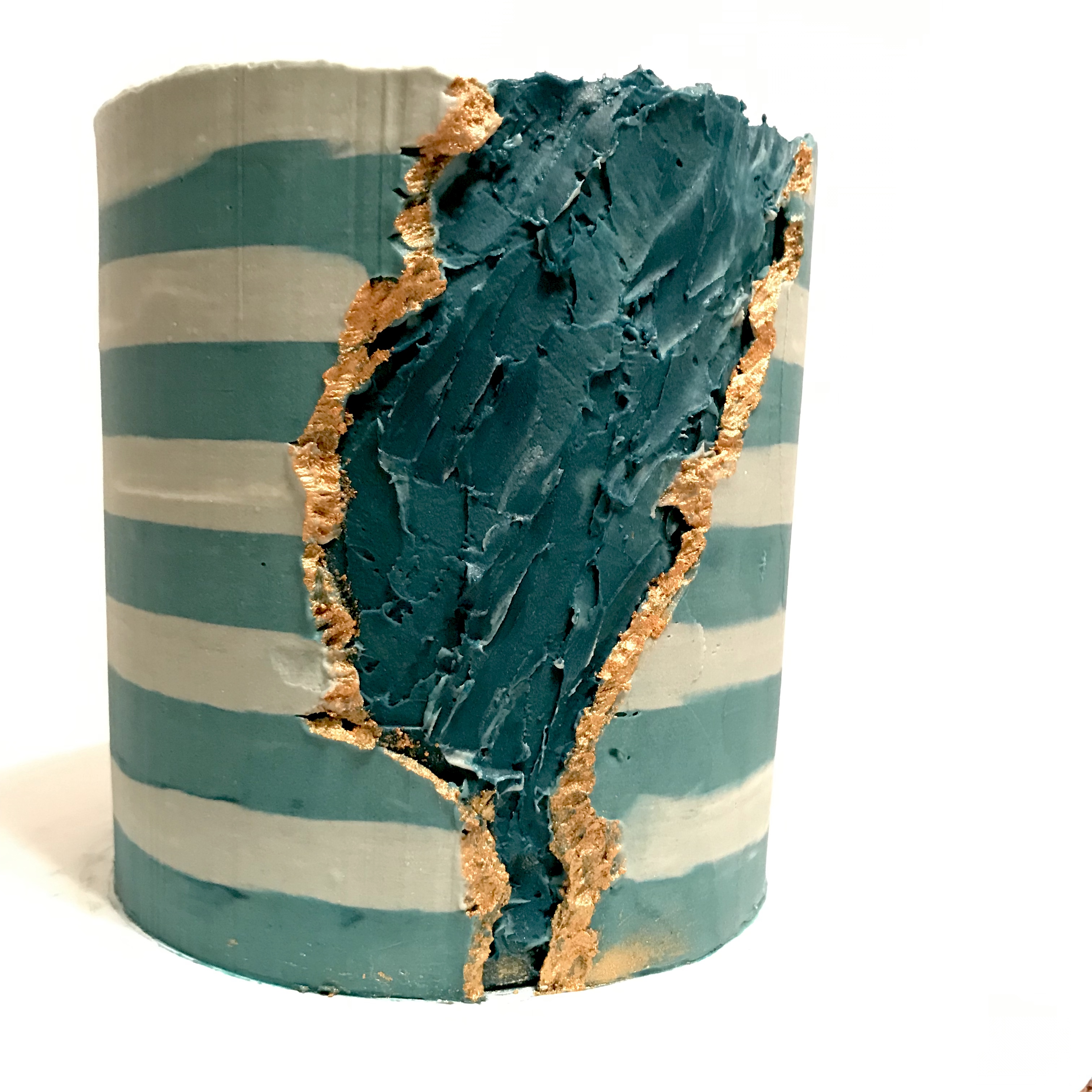 Striped Fault Line Cake
