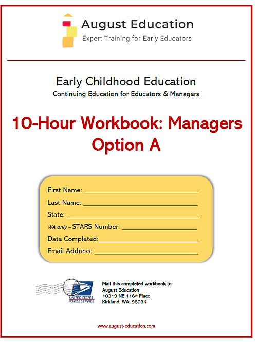 Ten-Hour Workbook | Option A | Managers