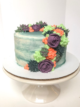 Cascading Succulent Cake