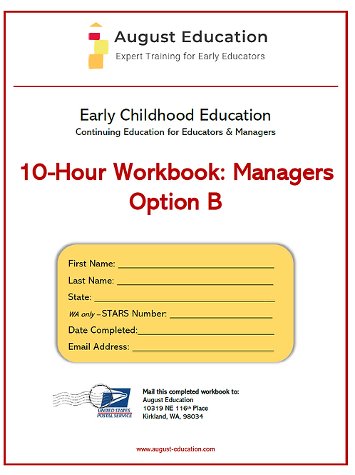 Ten-Hour Workbook | Option B | Managers