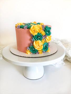Cascading Floral Cake