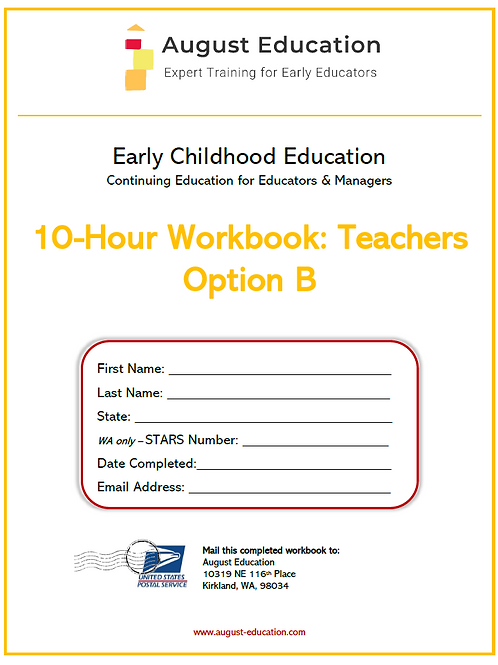 Ten-Hour Workbook | Option B | Teachers