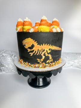 Fall Dinosaur Cake