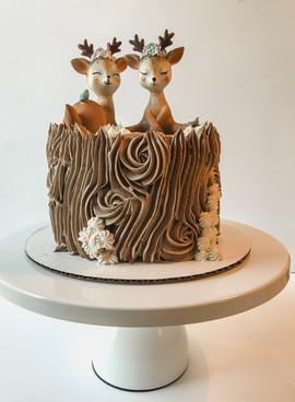 Baby Shower Stump Cake