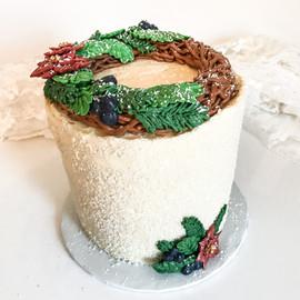 Winter Wreath Cake