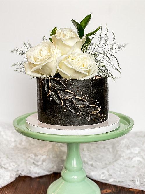 Fresh Florals & Palette Texture Cake