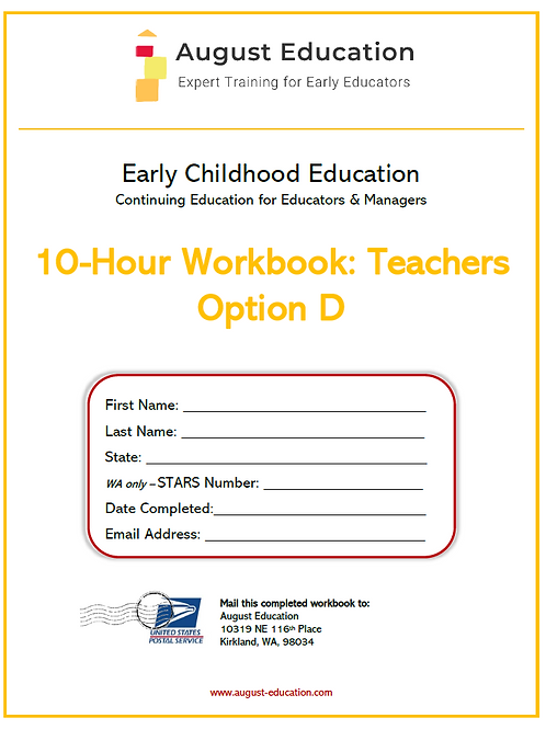 Ten-Hour Workbook | Option D | Teachers