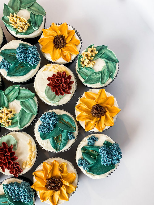 Palette Knife Cupcakes